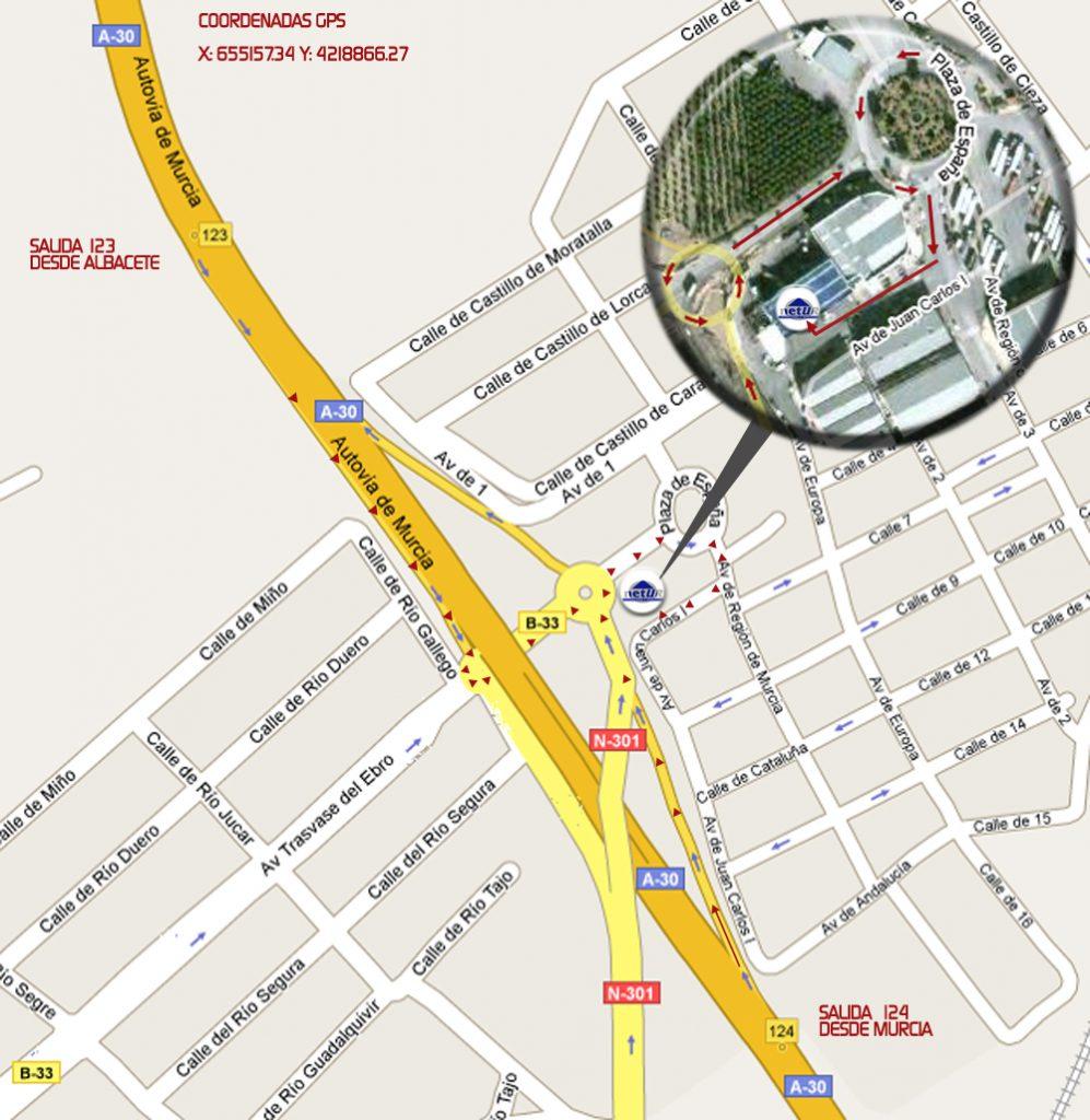 Mapa de localización planta de Lorquí (Murcia)